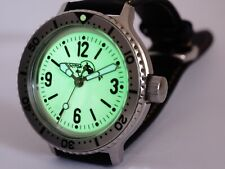 for Vostok Amphibia Komandirskie Watch Superlumia Full Lumed Dial