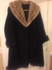 Vintage Possibly Blue Fox Collars  Length Fur Coat Timeless