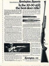 1976 Print Ad of Remington Reports Model 760 Gamemaster 30-30 Deer Rifle