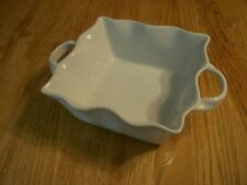 "Wonderful Cordon Bleu 8"" x 8"" x 4"" White Square Scalloped Baking Serving Dish"