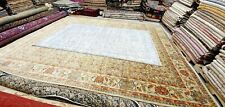 Antique 1930-1940's Distressed Wool Pile Overdyed Gray Oushak Area Rug 6'×10'