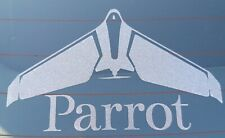 Parrot Disco Vinyl Car Window Decal 15cm x 9cm Frost effect.