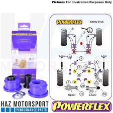 Powerflex Front Lower Wishbone Rear Bush Caster Offset BMW E36 3 Series 90-98