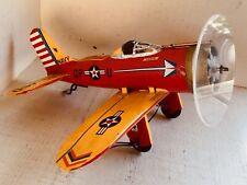 Unique Vintage metal scrapmade folk art Miniature Aviation airplane Model