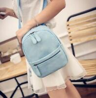 Women PU Leather Backpack Rucksack Shoulder Convertible Small Mini Purse Bag