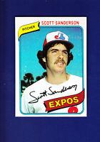 Scott Sanderson 1980 TOPPS Baseball #578 (NM) Montreal Expos