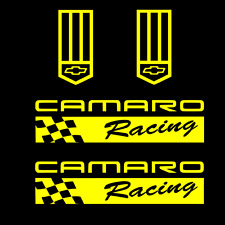 Camaro Racing Sticker badge YELLOW Decal chevy z rs ss zl1 z28 lt iroc emblem