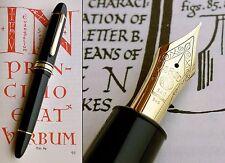 Montblanc 149 Fountain Pen. 1960-70s. 14C F FULL Flex Nib. Serviced. Mint