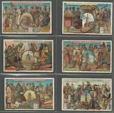 LIEBIG - THE EARTH AND ITS INHABITANTS - FULL ORIGINAL SET OF 6 FROM 1900