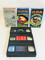 Def Leppard Rock Band 3 VHS Tape Lot Video Archive, Historia, In The Round