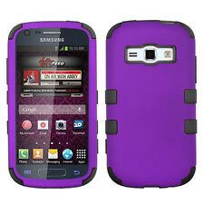 "For Samsung ""Prevail 2"" IMPACT TUFF HYBRID Case Skin Phone Cover Purple Black"