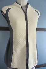 Nike Golf Vest Sphere Thermal Size Large 12 14 - Pale Yellow And Gray Front Zip