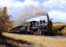 Baldwin a Brecon Mountain FERROVIA BELLA IMMAGINE PITTURA poster treno a vapore