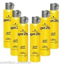 (19,07 €/ L) 6x 300ml Got2b Adhesive Spray Freeze Hairspray for Stark Hold