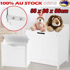AU Toy Box Kids Children Storage Drawer Laundry White Wooden Bedroom Furniture
