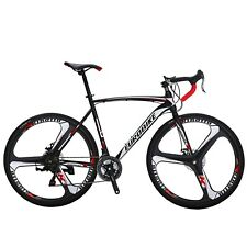 Road Bike Shimano 21 Speed Bicycle 700C Mens Bikes 54cm Daul Disc Brakes New