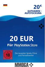PSN 20 EURO PlayStation Network Code Card - €20 PS5 PS3/4 PS Vita Guthaben - DE