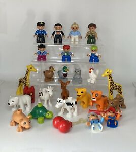Lego Duplo Figures Zoo People Animals Mixed Lot Replacement Accessory EUC