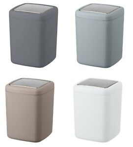 Barcelona Small Bathroom Waste Bin 3 Litre Anthracite Grey Taupe White