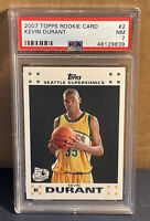 2007 Kevin Durant Topps Rookie Card #2 PSA 7 NM Sonics Nets 50th Anniversary RC