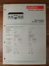 HiFi-Amplifier PA1050 9.150H  Nordmende Service Manual Serviceanleitung