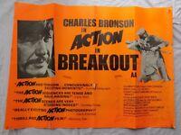 Breakout (1975), Original UK / Ireland Quad Poster, starring Charles Bronson