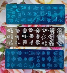 3 stamping templates/new/flowers ect/Nail art/manicure/weddings/party/false nail