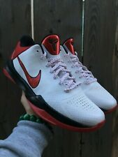 best loved 43b08 08964 Nike Zoom Kobe V 5 White Red Black Valentine s Day Chaos Prelude FTB 386429- 161