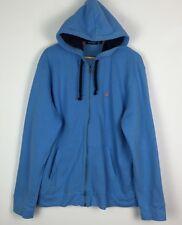 VINTAGE Retro Blue NAUTICA SPORT Felpa con Cappuccio Maglione Pullover Felpa UK L