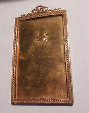 ANCIEN CADRE PORTE PHOTO STYLE LOUIS XVI DECOR NOEUD GUIRLANDES  16 x 9 CM