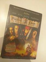 dvd  piratas del caribe , la maldicion de la perla negra  coleccionistas  2 dvd