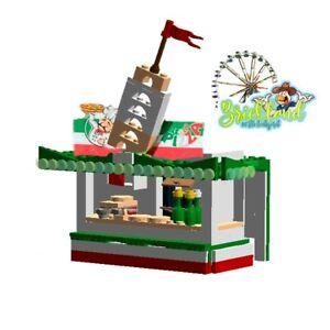 """Kirmesbude """"Pizza Pisa"""" Bauplan für LEGO/ andere Klemmbausteine."""