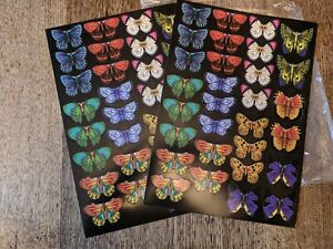 23 A4 Card Stock Pre Cut Dies Butterfly Black Background Toppers Embellishments