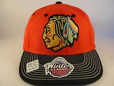 Chicago Blackhawks NHL Winter Classic CCM Flex Hat Cap Red Black