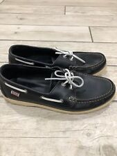 Men's Navy Boat shoes  AIGLE leather natural UK 9 RRP £115