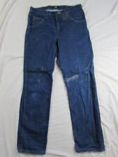 Wrangler 47MWZ Faded Denim Jeans Tag 33x32 Measure 33x32 Cowboy