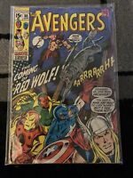 The Avengers 80 Marvel Comics 1970 1st Appearance Red Wolf