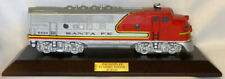 "1992 Avon Lionel ""SANTA FE DIESEL ENGINE"" Porcelain Train+Wood Base -SEALED NEW!"