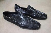TODS black LEATHER PENNY LOAFER SHOE SIZE 10 (sh710