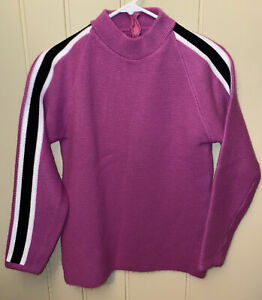 Vintage Scorpion Snowmobiles Sweater, Purple with white And Black stripe, 1970's