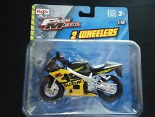 Maisto Suzuki GSX-R600 Black and Yellow 1/18 Motorcycle Bike