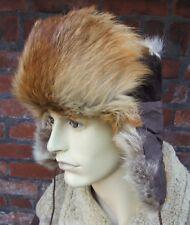 REAL RED FOX & SHEEPSKIN   Ushanka trapper  fur hat size:M 57cm