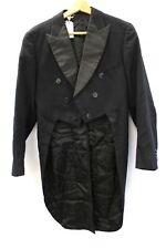 Mens Vintage Black Wool Formal TAILCOAT Unbranded S-M Preloved  - Y99
