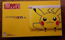 Nintendo 3DS XL Pikachu Edition Handheld System  PLEASE READ DESCRIPTION