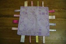 Fatto a mano lilla Ragazze taggie Trapunta-Quadrati, impronte, Rosa, Gatti, Winnie