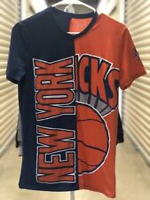 NY knicks Hardwood classics 3rGade Blue/Orange T-Shirt sz small EUC