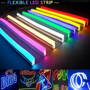 DC 12V LED Strip Neon Tube Rope Light Flexible Outdoor Boat Bar Sign Decor 1M-5M