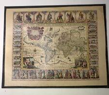 """Vintage Antique Map Nova Totius Terrarum Orbis  16""""x 20""""  hangable"""