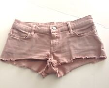 ALL SAINTS SPITALFIELDS LADIES DUSTY ROSE LOWE LOW RISE DENIM SHORT SHORTS SZ 27