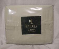 Lauren Ralph Lauren Pale Sage Twin Classic Flat Sheet Pima Cotton New In Package